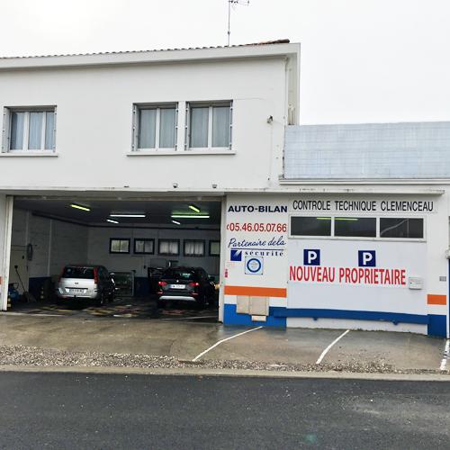 Centre de controle technique CENTRE DE CONTRÔLE TECHNIQUE CLEMENCEAU - ROYAN situé proche de ROYAN, 17200